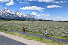 Ride your bike on a mountain hike (Sublime-Focus) Tags: motion summer bike biker tramping sunny day hiking moving biking backpacking recreation fitness hiker jackson hole jenny lake mountainous trail campsite great outdoors adventuresome adventuring dirtroad grand teton