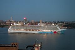Norwegian Breakaway (nyperson) Tags: breakaway hudsonriver newyorkcity cruiseship