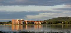 buildings (helena.e) Tags: helenae semester vacation ålga husbil motorhome norrland boden camping bodencampingbad water vatten bodträsket sjö lake