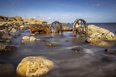 The Wheels (RichySum77) Tags: sea water uk canon seascape rocks durham wheels contrast light shore coast shoreline