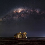 Milky Way Setting Over Two Rocks, Western Australia thumbnail
