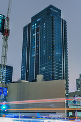 33 tehama completed exterior (pbo31) Tags: sanfrancisco california urban nikon d810 color august 2017 summer boury pbo31 city night dark folsomstreet rinconhill financialdistrictsouth construction tower 400 500 blue 33 tehama completed exterior lightstream traffic motion roadway crane