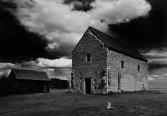 On the Wall (selvagedavid38) Tags: saxon roman history church essex christian black white building stones sky coast bradwell outdoors chapel
