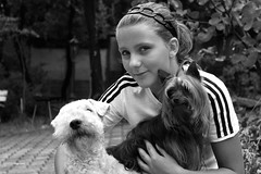 LAURA et Cie ( UNIXetvous ) Tags: laura young dog lady fille