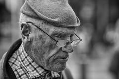 Real Dubliner (Frank Fullard) Tags: frankfullard fullard candid street portrait dublin dubliner monochrome blackandwhite gentleman cap saltoftheearth modest witty