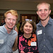 Tracy Freeman with George Webb and Matthew Miller ('17)