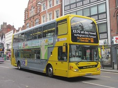NCT 910 YT61GOX Upper Parliament St, Nottingham on 68 (1280x960) (dearingbuspix) Tags: nottinghamcitytransport go2 6869 6869yellowline yellowline yellowline6869 yt61gox 910