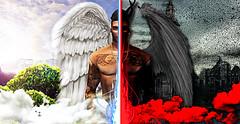 The angel (Jet-sama) Tags: angel god evil dark paradise secondlife shadow apocalyspe tattoo sl devil