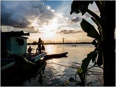 Sunset and boys (Sadot Arefin) Tags: pier landing buriganga dhaka bangladesh cloud sunset river bank stage people photo sky water astounding image