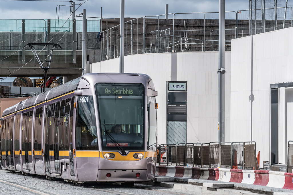 THE NEW LUAS TRAM STOP AT BROADSTONE [TESTING PHASE UNTIL EARLY DECEMBER]-1324700