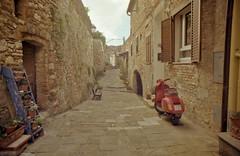 (Tony Rammaricati) Tags: 35mm canonfd vespa kodak kodakcolorplus200 campiglia marittima sigmafd tuscany