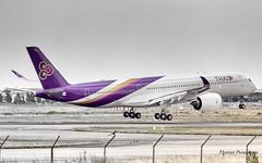 Thai Airways International Airbus A350-941 F-WZFB // HS-THG  Phu Pha Man / ภูผาม่าน (Flox Papa) Tags: thai airways international airbus a350941 fwzfb hsthg phu pha man ภูผาคุณ florent péraudeau fp f p flox papa