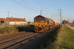 Class 66 du soir (videostrains) Tags: class66 class66214 ecr train fret cereales wagons auvergne voieferree railway cargo