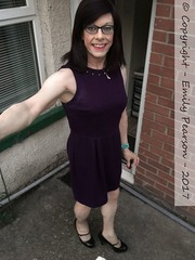 August 2017 (Girly Emily) Tags: crossdresser cd tv tvchix trans transvestite transsexual tgirl tgirls convincing feminine girly cute pretty sexy transgender boytogirl mtf maletofemale xdresser gurl glasses dress hose hosiery tights highheels stilettos