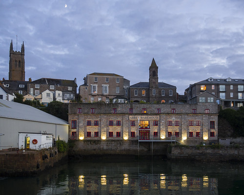 Moon over Penzance