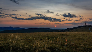 Schwardwaldsilhouette bei Sonnenuntergang