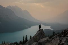 Selfie (Andrew G Robertson) Tags: banff national park peyto lake selfie canada rockies sunset sunrise west turquoise icefield parkway alberta l