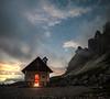 candlit chapel in the mountains (craigmcdearmid) Tags: trecima alpinechapel stars candlelit