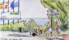 La France des Sous-Préfectures 73 (chando*) Tags: aquarelle watercolor croquis sketch france