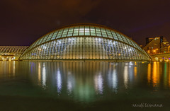 City of Arts and Sciences (sandilesmana28) Tags: city arts sciences spain valencia night shot slow speed blue hour colourfull water shadow sunset museum