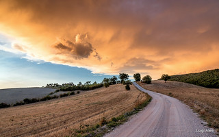 San Severino Marche - Tramonto prima del temporale