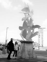 Doves Of Peace, Bridge St. (LozHudson) Tags: fuji x100s fujifilmx100s manchester street streetphotography blackwhite blackandwhite monochrome