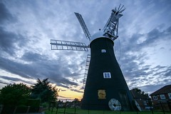 Holgate Windmill sunset, August 2017 - 4 (nican45) Tags: 1020 1020mm 1020mmf456exdc 19august2017 19082017 2017 august canon dslr eos70d goldenhour hwps holgate holgatewindmill sigma york yorkshire clouds evening mill project sail sails sky sunset wideangle windmill