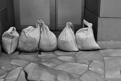 sandbags (Hideki Iba) Tags: sand bag sandbag street town bw monochrome nikon d850 kobe japan blackwhite 白黒 砂袋 日本 神戸 door road