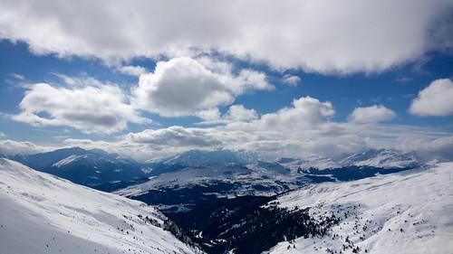 Snowboarding in Flims-Laax