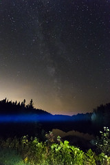 IMG_7363 (Sergey Kustov) Tags: canada quebec mauricie national park night star sky milky way galaxy universe space lake forest nature panorama light water reflection