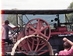 Pioneer Steam and Gas Engine Show (rentavet) Tags: nikkormatel analog konicacenturia400asa saegertownpa pioneersteamgasenginesocietynwpa tractorshow