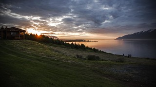 Sunset on the fjord