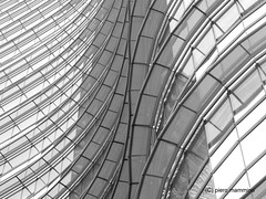 Milan skyscraper _ detail (piero.mammino) Tags: milano milan grattacielo skyscraper italia italy vetro glass finestra window black white bianco e nero monocromo curve particolare dettaglio detail architecture aulenti gae palazzo onde waves blackwhite