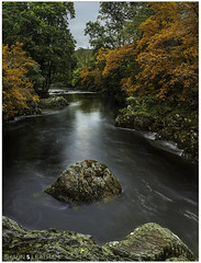 √ Tripod: Autumn Leaves (Shaun S. Leatham) Tags: river autumn sony a77 1650 wales water rocks trees view uk rush timelaps snowdonia