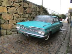 1959 Chevrolet Belair (occama) Tags: 543uyw 1959 chevrolet impala old car cornwall uk aqua american sedan classic us usa
