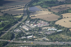 South Mimms (My photos live here) Tags: aerial view air to ground north london elstree hertfordshire city countryside south mimms service station area a1 a1m m25 motorway