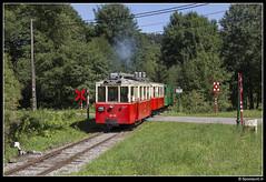 TTA AR.133 + A.1344 + A.1208 - Forge-à-la-Plez (Spoorpunt.nl) Tags: 6 augustus 2017 tta tramway touristique de laisne vicinal buurtspoorwegen erezée mazouttram motorwagen ar133 autorail pont dérezée a 1344 1208 bijwagen