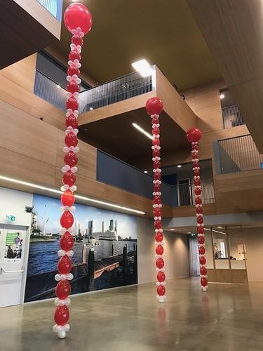 Ballonpilaar Rond Geslaagd EBO de Passie Rotterdam