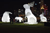 Intrude (chooyutshing) Tags: intrude sculptures giantrabbits bunnies lightedup amandapareraustralia padang srandrewsroad civicdistrictoutdoorfestival singapore