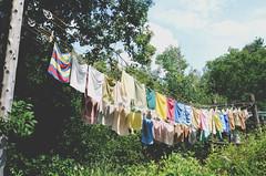 (Evangelina M) Tags: clothesline laundry hangingclothes cordeàlinge