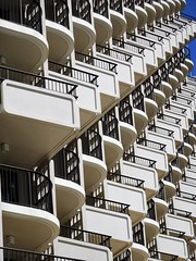 Waikiki (kenjet) Tags: hawaii vacation tropical paradise island oahu hotel angle building architecture many againandagain multiple floor floors balcony balconies