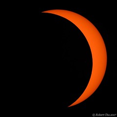 Crescent post Totality (Imagination04) Tags: total solar eclipse 2017 august21 aug21 vixen ed80sf 80mm ed apo f75 refractor telescope sun bresser exos2 mount gem crab orchard national wildlife refuge il 1000 thousand oaks solarlite filter