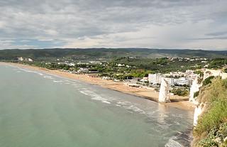 Vieste beach from above