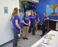 Staff enjoy sharing their new school with their own families as well as those of the students.