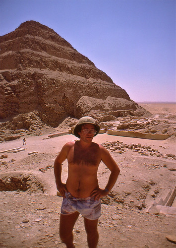 Me in front of the Pyramid of Djoser
