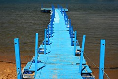 Blue pier (Lenaprof) Tags: 7daysofshooting week7 vibrant shootanythingsaturday smileonsaturday bluetiful cmwdblue