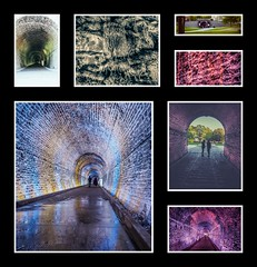 Brockville Railway Tunnel Collage (ildikoannable) Tags: railway railwaytunnel canada ontario brockville history olympus collage