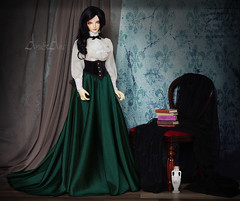 Edwardian Charm (AyuAna) Tags: bjd ball jointed doll dollfie ayuana design handmade ooak clothing clothes dress set victorian edwardian historical style iplehouse eid luna normalskin