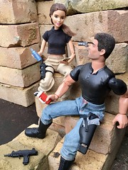 A Break Between Takes (MaxxieJames) Tags: vittoria belmonte made move barbie action man doll collector mattel brunette teresa claude dolls dravin
