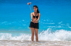 Female Tourist Taking Selfie On Kaputas Beach, Antalya, Turkey (Feng Wei Photography) Tags: tranquilscene traveldestinations watersedge tourism turkeymiddleeast peaceful kaputas scenics eastasia turquoisecolored colorimage mediterraneansea wave beautyinnature sea beach selfie mediterraneanturkey idyllic beautiful centralanatolia travel swim relaxation outdoors antalyaprovince turkishculture horizontal lycia turkish kaş antalya turkey tr female selfiestick